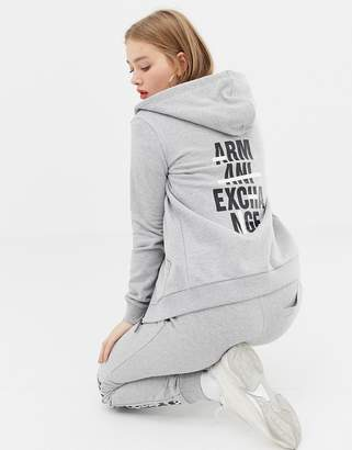 Armani Exchange hoodie with back crossed out logo
