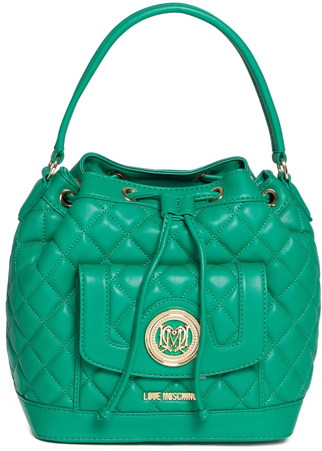 Love Moschino LOVE Moschino Quilted Satchel Bag