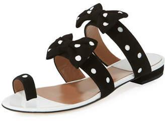 Laurence Dacade Polka-Dot Bow Slide Sandal