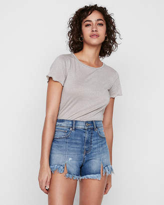 Express High Waisted Distressed Cutoff Original Denim Shorts