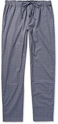 Hanro Checked Cotton Pyjama Trousers $130 thestylecure.com