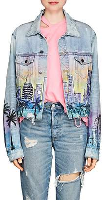 "Amiri Women's ""Hollywood"" Denim Jacket - Blue"