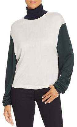 Burberry Mazon Color Block Turtleneck Sweater
