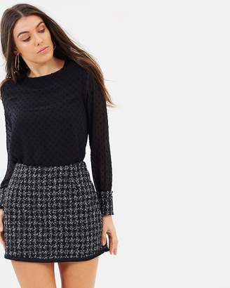 Atmos & Here ICONIC EXCLUSIVE - Sara Fitted Tweed Skirt
