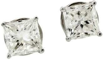 Jacob & co 18K White Gold & Diamond Stud Earrings