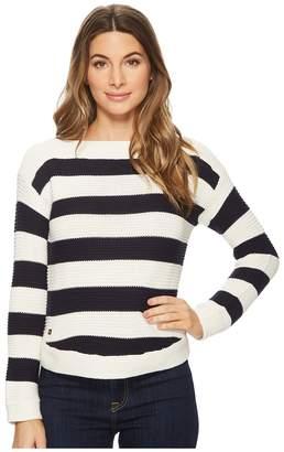 Lauren Ralph Lauren Striped Cotton Boat Neck Sweater Women's Sweater