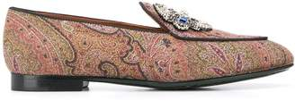 Etro 20mm paisley print loafers