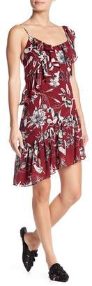Parker Asymmetrical Floral Ruffle Dress