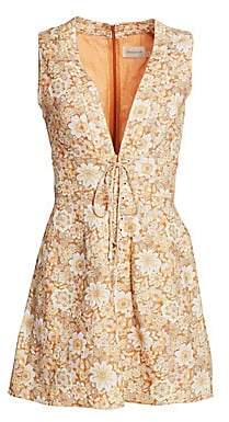 Zimmermann Women's Zippy Floral Linen Mini Dress
