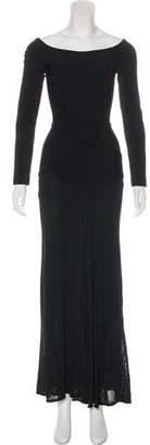 Herve Leger Long Sleeve Maxi Dress