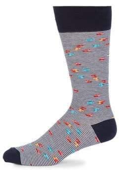 Saks Fifth Avenue Mid-Calf Striped Socks