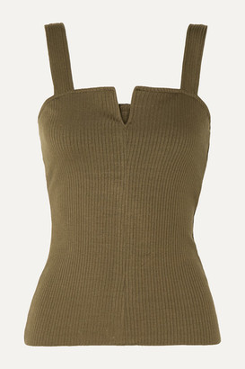 The Range - Alloy Ribbed Stretch-knit Tank - Green