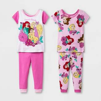 Disney Princess Baby Girls' Disney Princess 4pc Pajama Set - Pink