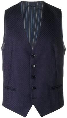 Tagliatore textured waistcoat