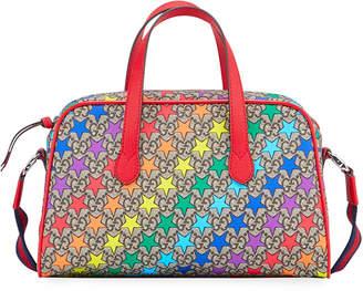 Gucci Kids' Rainbow-Star GG Supreme Shoulder Bag
