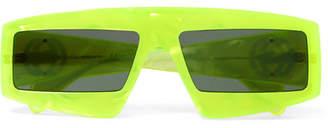 Gucci Oversized Square-frame Acetate Sunglasses - Chartreuse