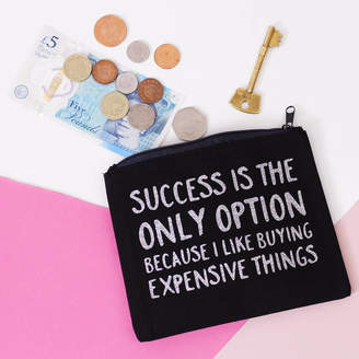 Nell Elsie & 'Success Is My Only Option' Change Purse