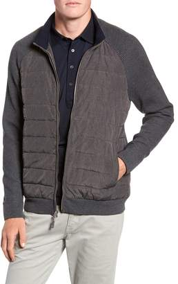 Peter Millar Crown Elite Light Down Jacket with Knit Sleeves