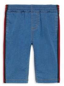 Gucci Baby Boy's Stripe Trim Jeans