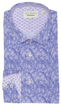 Ted Baker Messera Endurance Leaf Print Trim Fit Dress Shirt