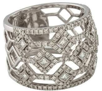 Ring 14K Diamond Ornate Cutout Band