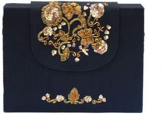 Simitri - Black Zari Briefcase Bag