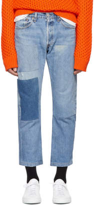 B Sides Indigo Three Patch Jeans