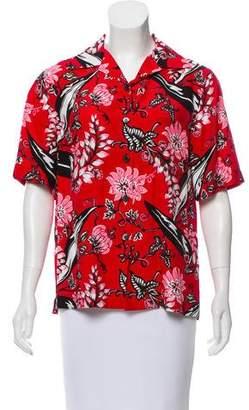 Prada 2016 Floral Button-Up