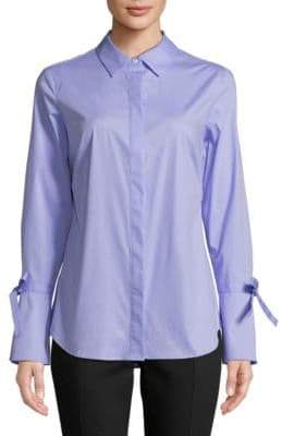 Lord & Taylor Kinsley Bell-Sleeve Button-Down Shirt