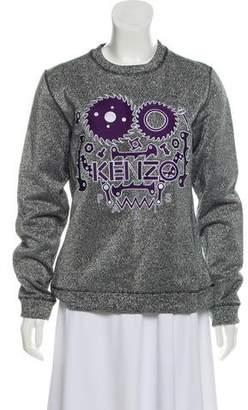 Kenzo Embroidered Glittered Sweatshirt