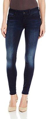 G-Star Raw Women's Midge Cody Midrise Skinny Slander Blue Super Stretch Medium Aged Jean $190 thestylecure.com