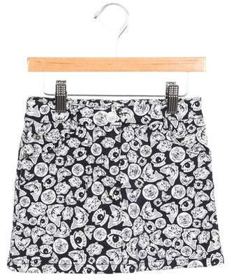 Kenzo Girls' Printed Denim Skirt w/ Tags
