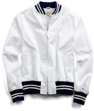Todd Snyder + Champion Cotton Bomber Jacket in White