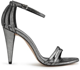 Reiss ILSA METALLIC METALLIC OPEN TOE SANDALS Metallic