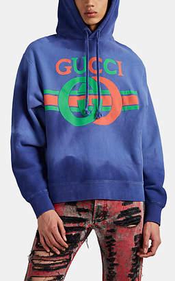 Gucci Men's Interlocking G Cotton Hoodie - Navy