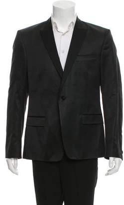 Versace Metallic Single-Button Tuxedo Jacket