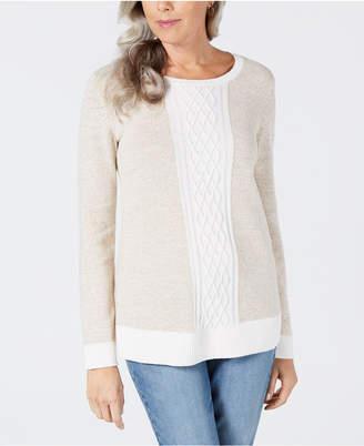 Karen Scott Petite Colorblocked Sweater