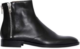 Givenchy Leather Ankle Boots W/ Zip Details