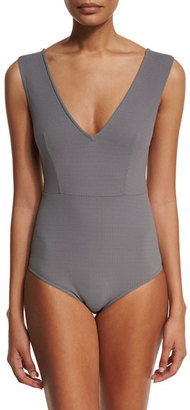 Marysia Point Dume Textured One-Piece Swimsuit $334 thestylecure.com