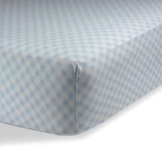 """Crib Sheets/Crib Sheets Boys/Crib Sheets Girls for Baby - Infant - Toddler Deep Fitted Soft Jersey Knit by Abstract (28"""" X 52"""" (STANDARD CRIB), Checked Blue)"""