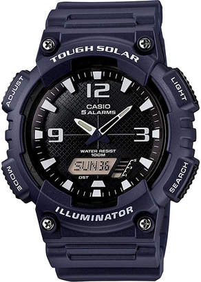 Casio Mens Black Dial Blue Resin Strapl Solar Sport Watch AQ-S810W-2A2