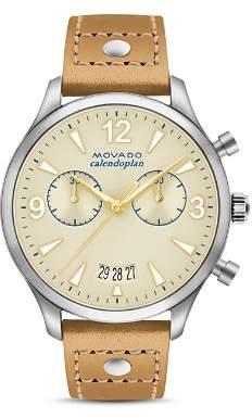 Movado Heritage Calendoplan Chronograph, 38mm