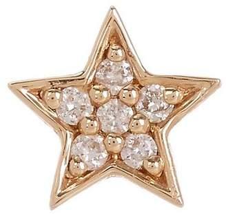 Andrea Fohrman Gold White Diamond Mini Star Stud Earring