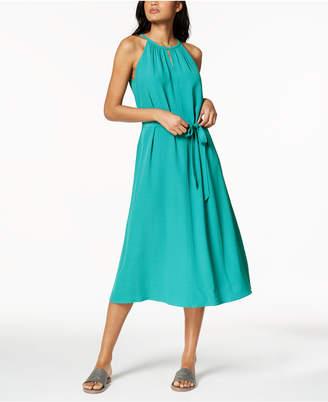 Eileen Fisher Tencel Crepe Belted Halter Maxi Dress, Regular & Petite