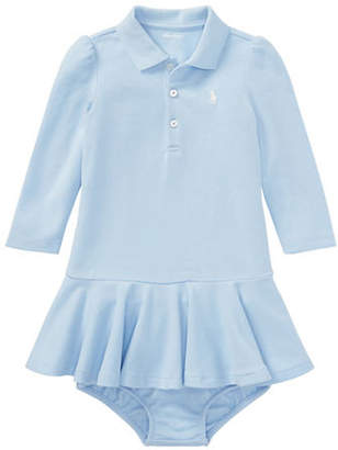 Ralph Lauren Baby Girl's Two-Piece Cotton Polo Dress Bloomers Set