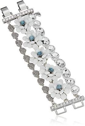 Betsey Johnson Women's La La Flower Multi Row Bracelet