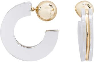 Jardin Geometric Mirror Half Hoop Earrings