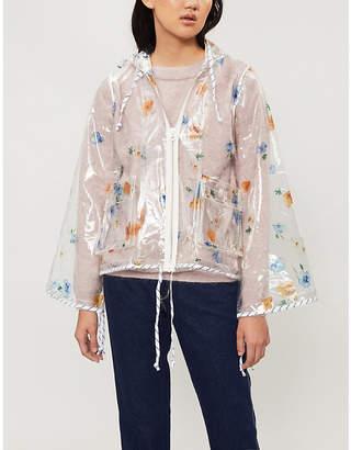Ganni Petunia floral-print PVC jacket