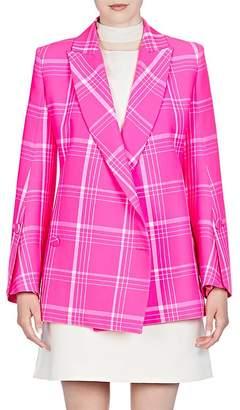 Fendi Women's Plaid Virgin Wool-Blend Double-Breasted Blazer