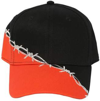 Heron Preston BARBWIRE EMBROIDERED COTTON BASEBALL HAT